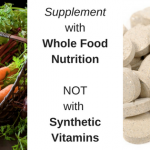 Supplement with Whole Food Nutrition – Not with Synthetic Vitamins