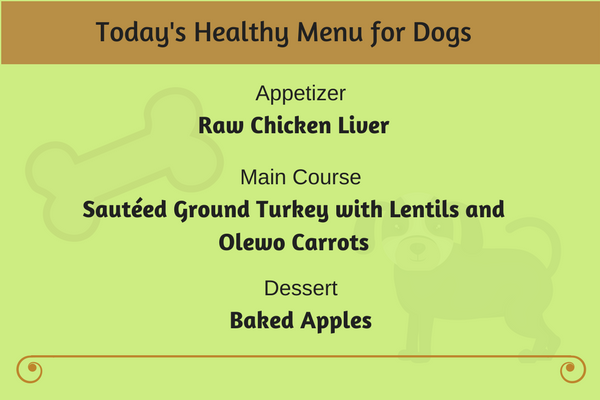 Today's Healthy Menu for Dogs