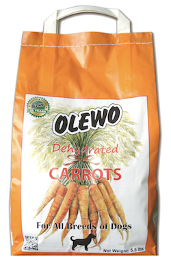 Dehydrated Carrots for Dogs 5.5 lbs